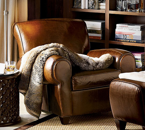 Pottery Barn Manhattan Leather Club Chair Gearculture