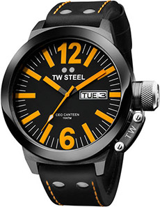 TW Steel Leather Strap Watch
