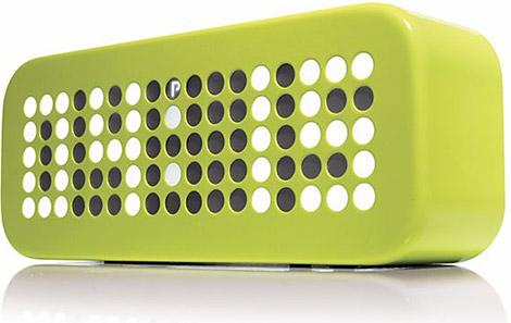 Crate & Barrel Green LED Alarm Clock