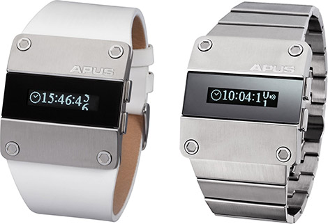APUS Alpha & Beta Steel Wristwatches