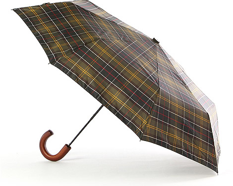 Barbour Tartan Telescopic Umbrella