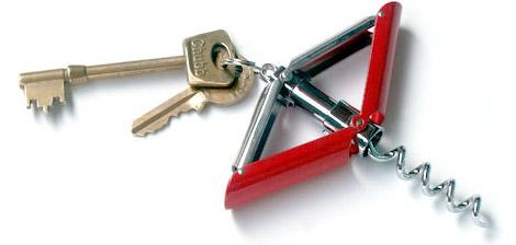 Key Ring Corkscrew