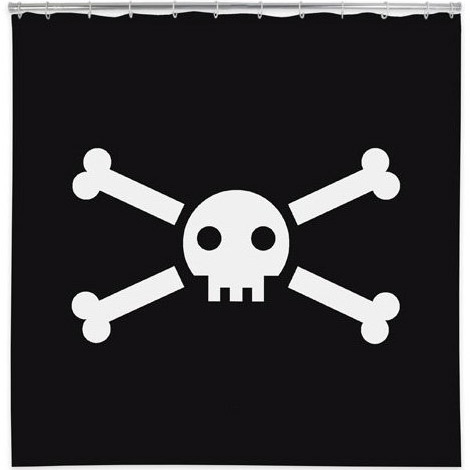Jolly Roger Pirate Flag Shower Curtain