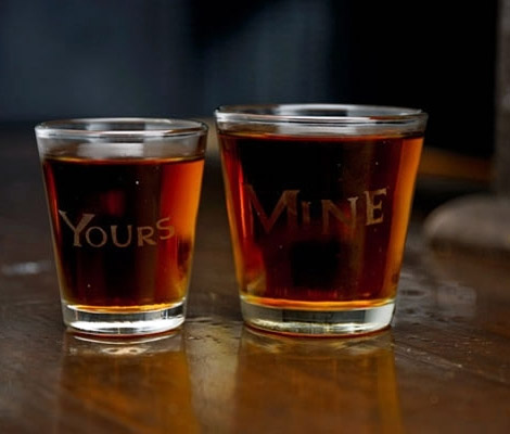 Mine & Yours Shot Glass Set