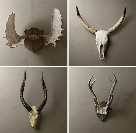 Restoration Hardware Cast Resin Horns & Antlers