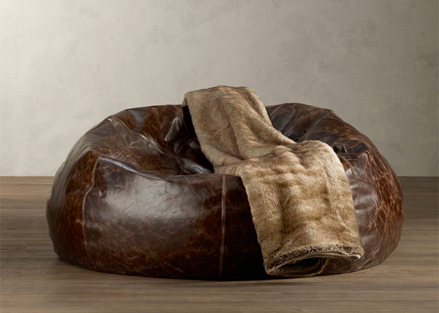 Grand Leather Bean Bag Chair