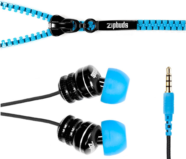 Zipbuds Tangle-Resistant Earbuds