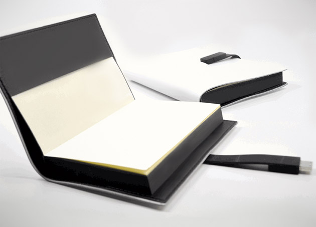 Leather Journal with USB Drive