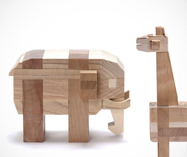 Sakai Wooden 3D Animal Puzzle