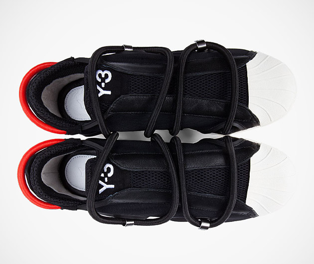 Y-3 Black Cord Lace Sneakers