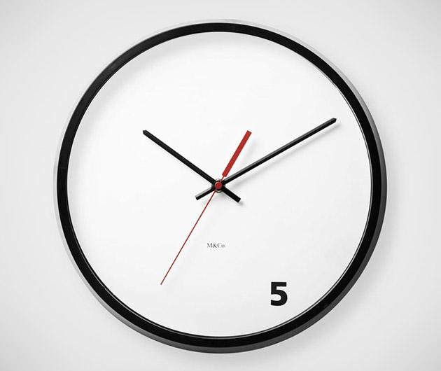 Five O'Clock Wall Clock