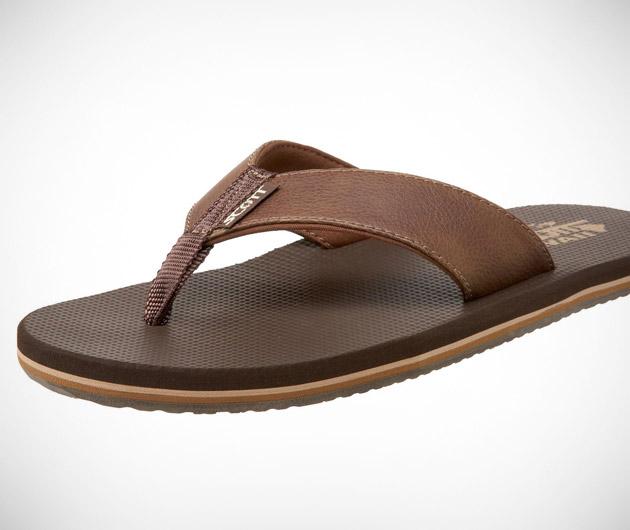 Scott Hawaii Koa Flip Flop
