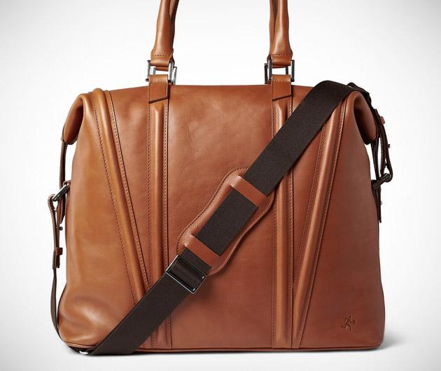 Charleroi Leather Holdall Weekend Bag