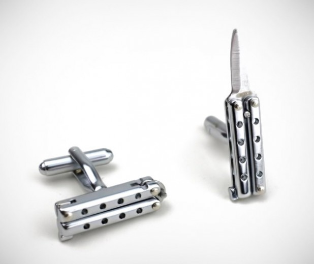 The Sharpest Rides >> Butterfly Knife Cufflink | GearCulture