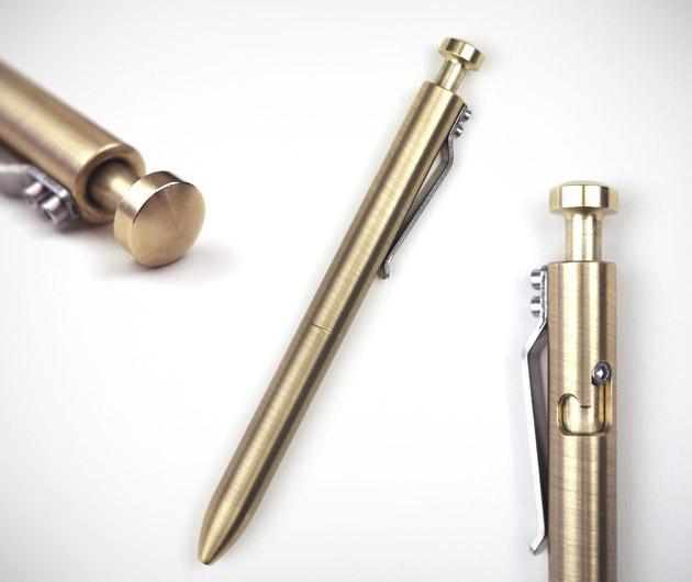Machined Brass Bolt Pen