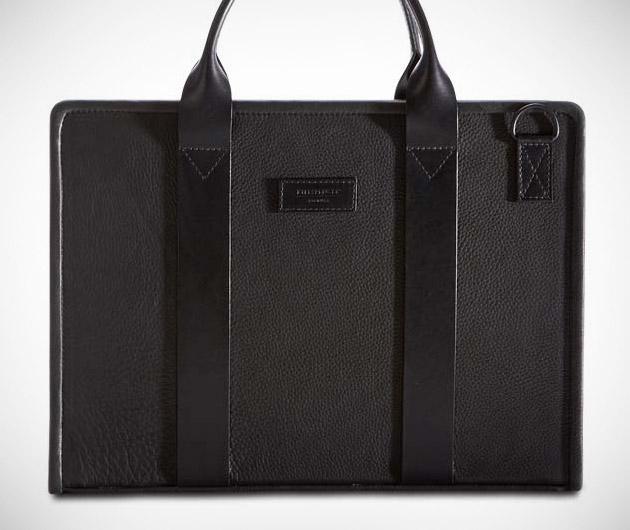 Killspencer Black Leather Hardshell Briefcase