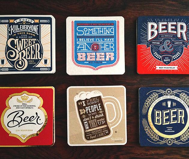 Beer Press Coasters
