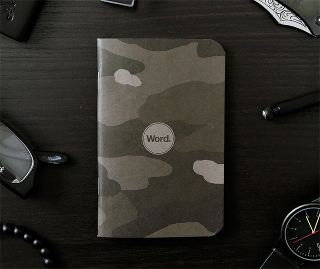 Word Stealth Camo Notebook