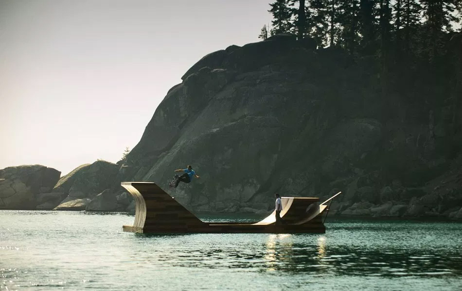 Floating Skateboard Ramp