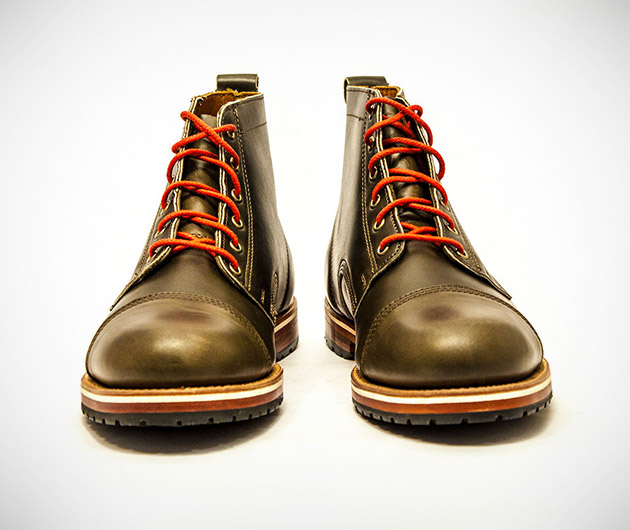 Helm Boots Marion Olive Blucher Boot