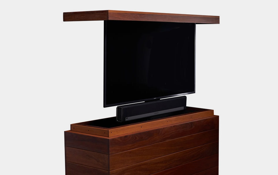 Outdoor Cumaru TV Lift Cabinet
