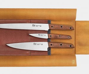 Cangshan W Series Leather Roll Knife Set