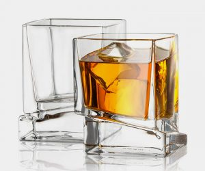 JoyJolt Carre Square Scotch Glasses