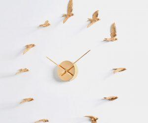 HAOSHI Gilded Swallow X Clock