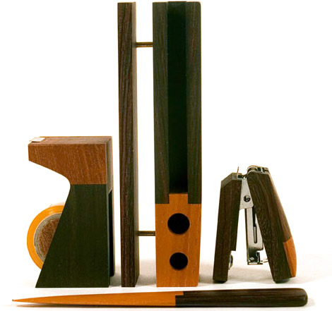 Singgih Kartono Natural Wood Desk Set