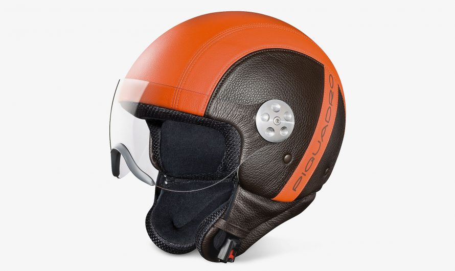Piquadro Leather Helmet