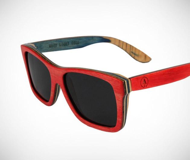 Woodzee Skateboard Series Maple Sunglasses