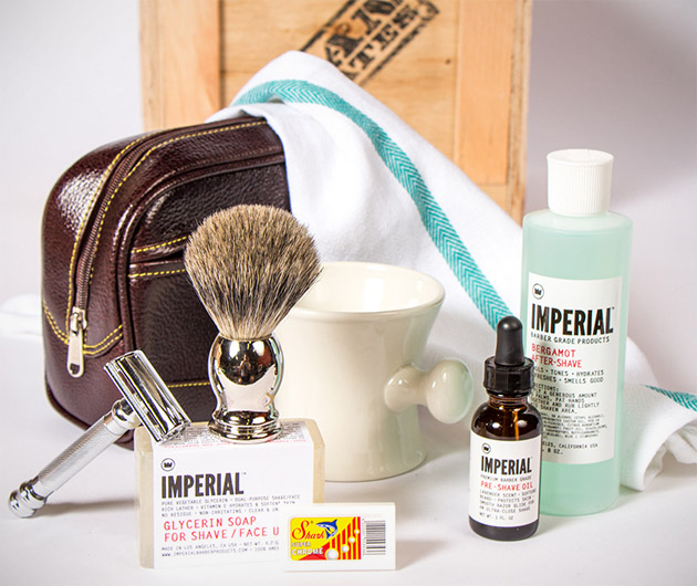 Man Crates Clean Shave