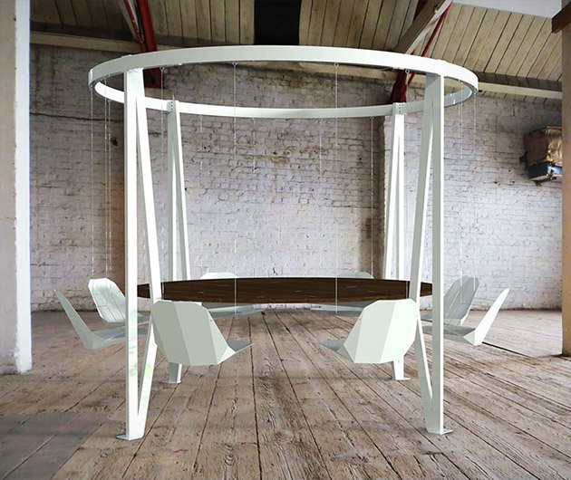 The King Arthur Round Swing Table