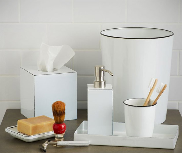 Enamel Bath Accessories