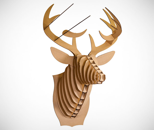Cardboard Safari Animal Bust
