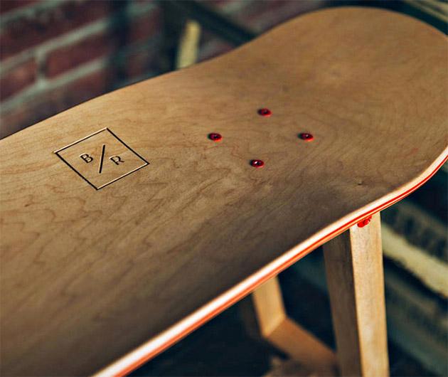 Baked Roast Handmade Skateboard Furniture