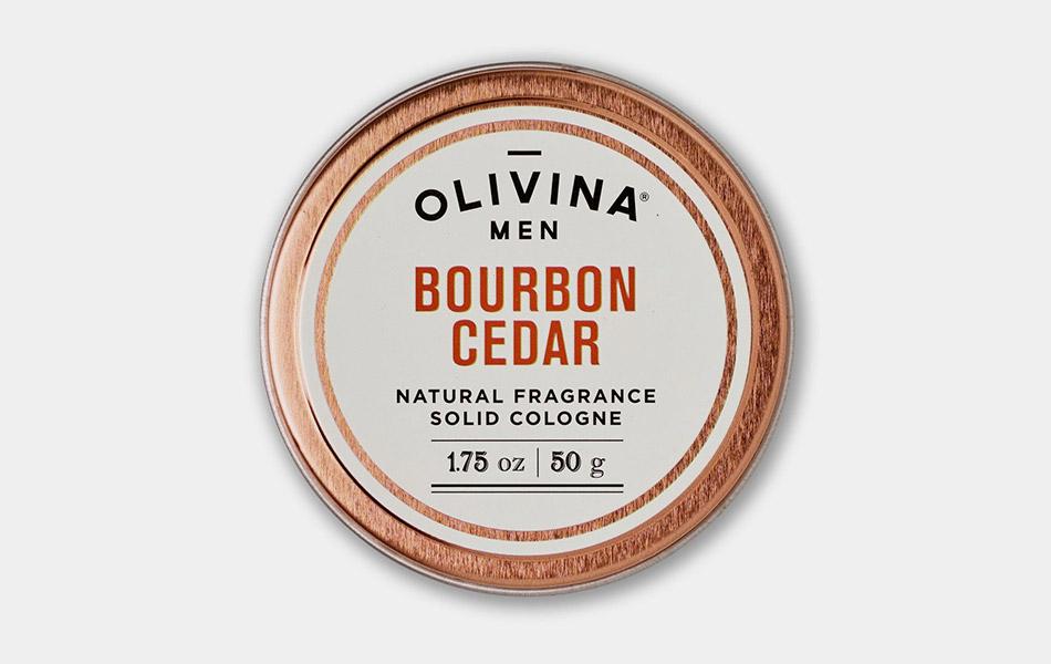 Olivina Men Bourbon Cedar Solid Cologne