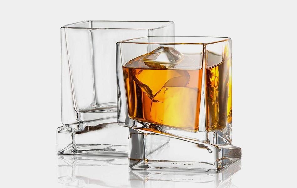JoyJolt Carre Square Scotch Glasses