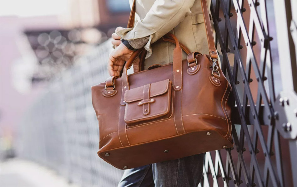 Pad & Quill Gladstone Leather Duffle Bag