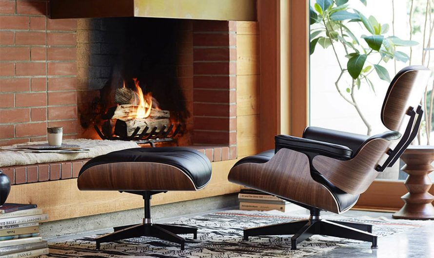 Eames Mohair Supreme Lounge Chair